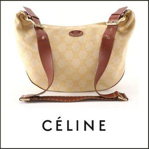 CELINE Hobo XBody Bag in Monogram Canvas & Leather